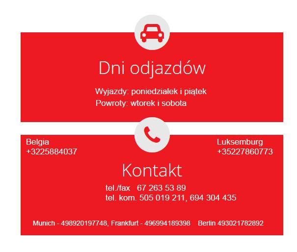 Busy do Niemiec z Bydgoszczy, przewóz ośób Holandia Belgia Polska